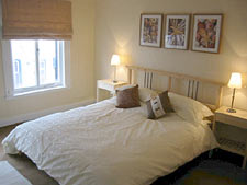 Bedroom at Seashell self-catering cottage, Lower Largo, Fife, Scotland, UK